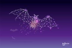 Частицы, геометрическое искусство, линия и точка летучей мыши Стоковая Фотография