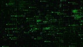 Частицы и решетка матрицы цифров Высок-техника жестикулируют абстрактную предпосылку иллюстрация штока