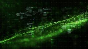 Частицы космоса кибер цифров Стоковые Изображения RF