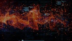 Частицы космоса кибер цифров Стоковое Фото