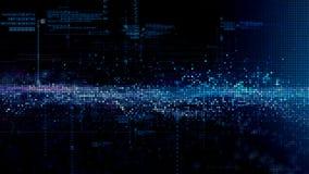 Частицы космоса кибер цифров Стоковые Фото