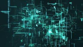 Частицы космоса кибер цифров Стоковое Изображение