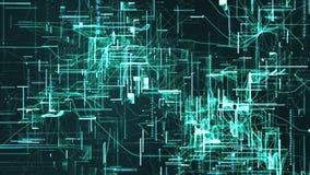 Частицы космоса кибер цифров Стоковые Фотографии RF