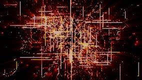 Частицы космоса кибер цифров Стоковое Изображение RF