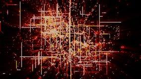 Частицы космоса кибер цифров Стоковая Фотография