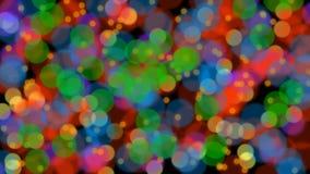 Частицы медленного moving красочного круга расплывчатые любят бактерии, компьютер одушевленная видео- предпосылка, безшовное loop бесплатная иллюстрация