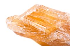Частично выкристаллизовыванное золотое Scapolite от Нигерии Стоковое фото RF