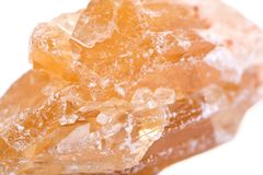 Частично выкристаллизовыванное золотое Scapolite от Нигерии Стоковое Изображение RF