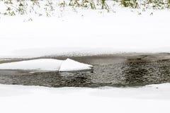 Частично замороженное река на зиме Стоковое фото RF