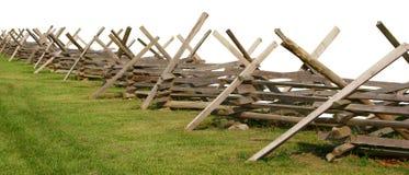 Частично изолированная загородка гражданской войны Стоковые Фотографии RF