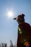 Частично солнечное затмение в Польше Стоковое Изображение RF
