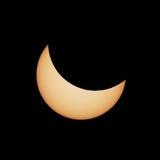 Частично солнечное затмение 20 03 2015 Стоковое Изображение RF