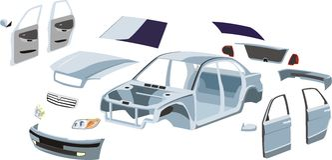 части автомобиля иллюстрация штока