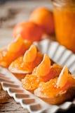 Части багета с оранжевым мармеладом Стоковая Фотография RF