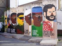 Части Берлинской стены с диктаторами Стоковые Фотографии RF