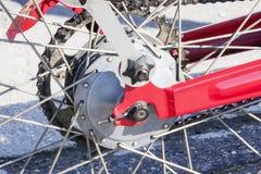 Части винтажного мотоцикла механически Стоковая Фотография RF