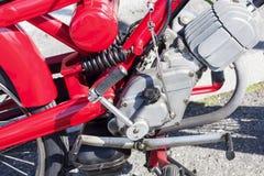 Части винтажного мотоцикла механически Стоковые Изображения