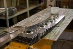 Части воздушных судн на столе мастерской Стоковое Изображение RF