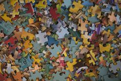 Части головоломки много и Стоковая Фотография RF