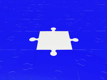 Части головоломки в голубом и белом Стоковая Фотография