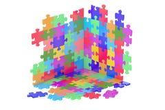 Части головоломки, перевод 3D Стоковые Фотографии RF