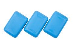 3 части голубого мыла изолированной на белизне Стоковая Фотография RF