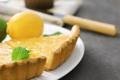 Части домодельного пирога лимона Стоковые Изображения RF