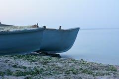 Части деревянных рыбацких лодок Стоковое фото RF