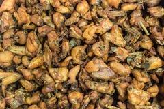 Части жареной курицы стоковое фото rf