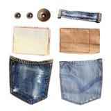 Части джинсов Стоковая Фотография