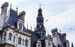 Части здание муниципалитета Гостиниц-de-Ville Стоковые Изображения RF