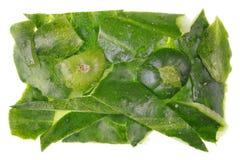 Части зеленых кож которые остались после чистки cu Стоковые Изображения