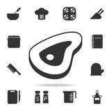 Части значка мяса Комплект значков шеф-повара и элемента кухни Наградной качественный графический дизайн Знаки и значок собрания  иллюстрация вектора
