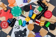 Части игры на шахматной доске Стоковая Фотография