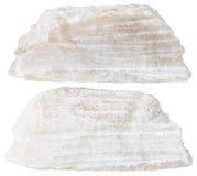 2 части изолированного камня талька минерального Стоковая Фотография RF