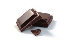 части изолированные шоколадом Стоковое Изображение