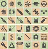 Части, инструменты и аксессуары автомобиля Стоковые Изображения RF