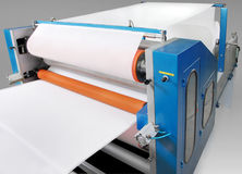 Части и детали печатной машины. Стоковые Изображения