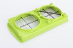 Части и комплект slicer или dicer еды вырезывания точности зеленого цвета нержавеющей стали современных для плодоовощ, сыра, овощ Стоковое Изображение