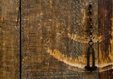 Части и элементы старой двери стоковые изображения