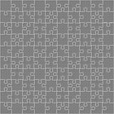 Части квадратное GigSaw головоломок вектора серые - 100 Стоковые Изображения RF