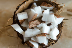 Части кокоса Стоковая Фотография