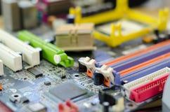 части компьютера, доска, запасные части Стоковое Изображение RF