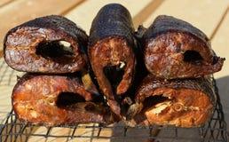 Части копченых рыб Стоковые Изображения