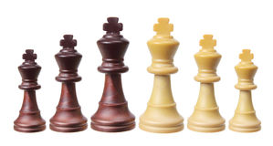 Части короля шахмат Стоковая Фотография