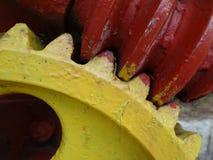 Части красочного конца-вверх колес шестерни механически Стоковая Фотография