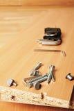 Части мебели Брайна деревянные для собрания Стоковое фото RF