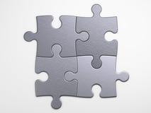 Части металла головоломки для того чтобы установить концепции Стоковое Фото