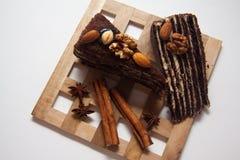 Части пирожного Стоковое фото RF