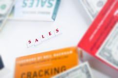 Части письма продаж на фокусе стоковое изображение rf